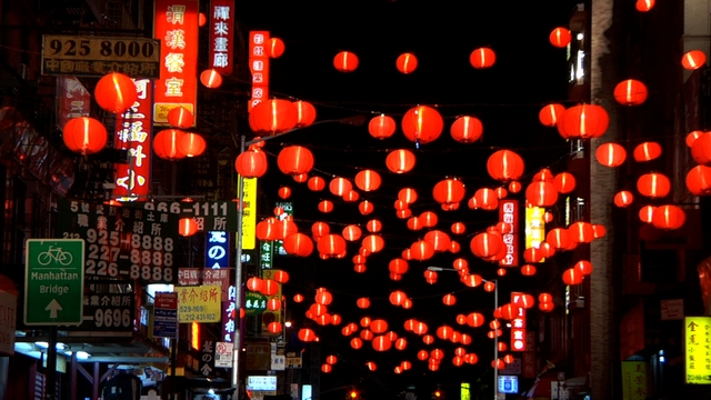 china-town-at-night-time