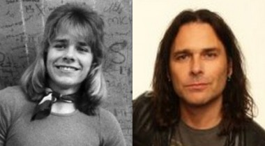 Mike Tramp during the Mabel days (Left) and today